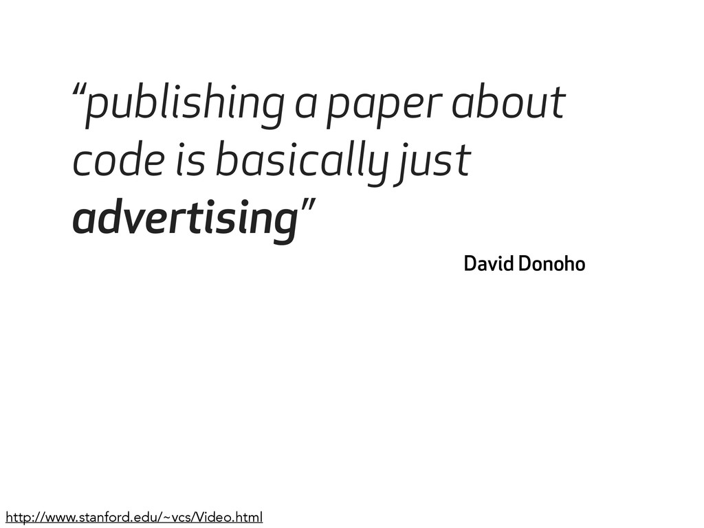 """""""publishing a paper about code is basically jus..."""