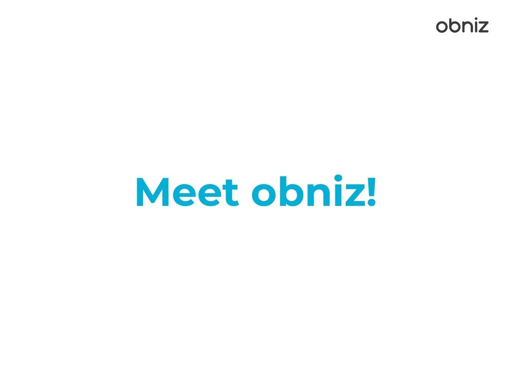 Meet obniz!
