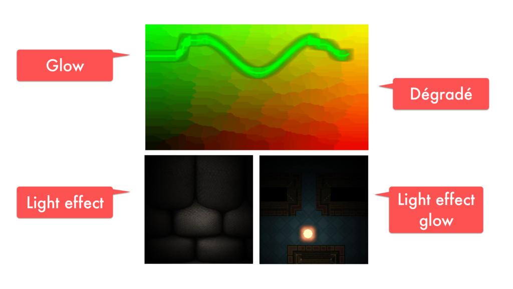 Glow Dégradé Light effect glow Light effect