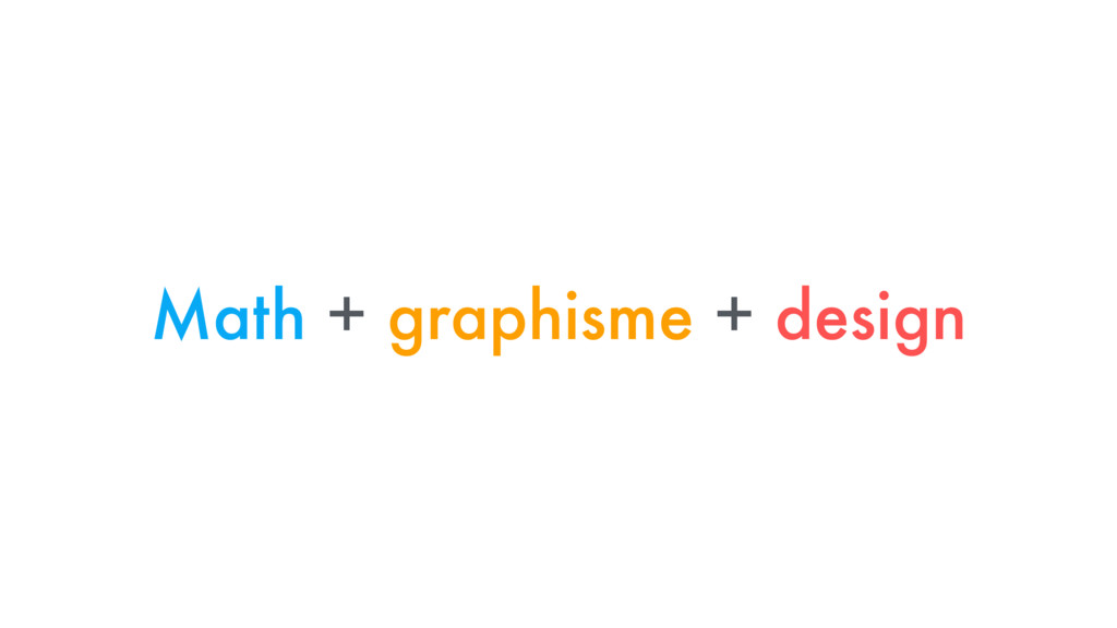Math + graphisme + design