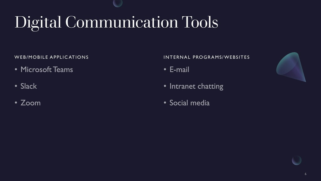 Digital Communication Tools WEB/MOBILE APPLIC A...