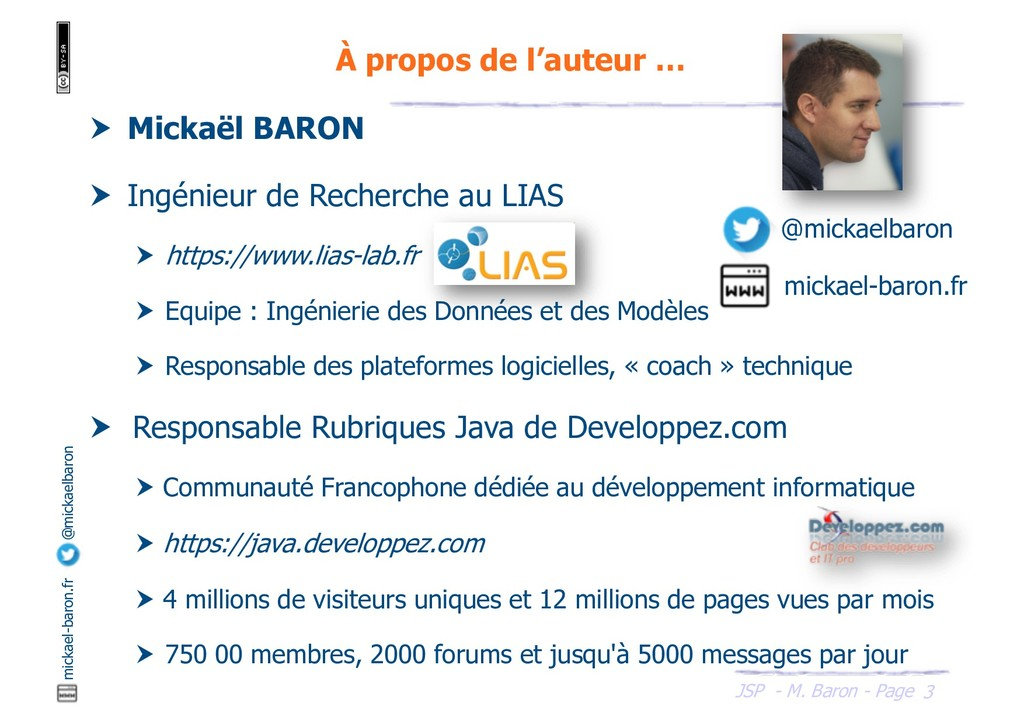 JSP - M. Baron - Page mickael-baron.fr @mickael...