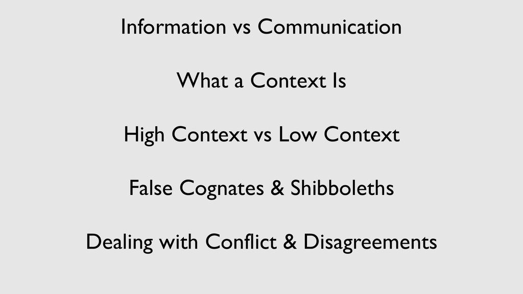 Information vs Communication What a Context Is ...