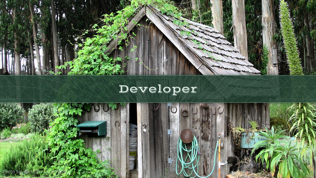 Developer Photo Source: flickr user folkbird
