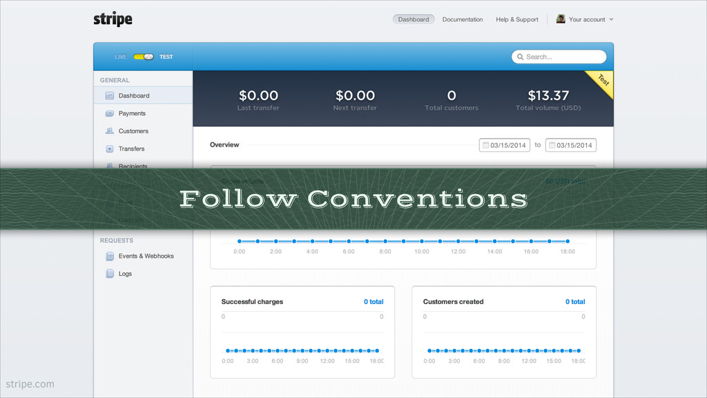 Follow Conventions stripe.com
