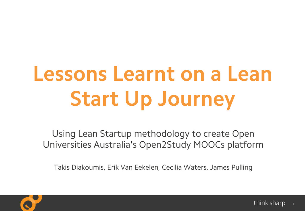 1 Lessons Learnt on a Lean Start Up Journey Usi...