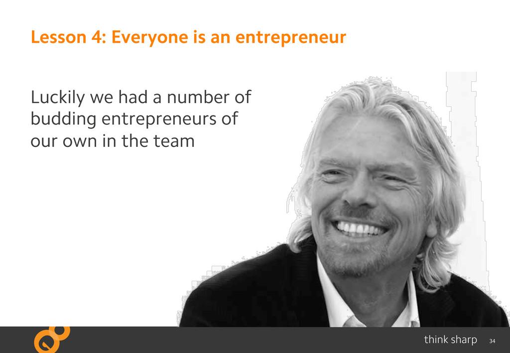 34 Lesson 4: Everyone is an entrepreneur Luckil...