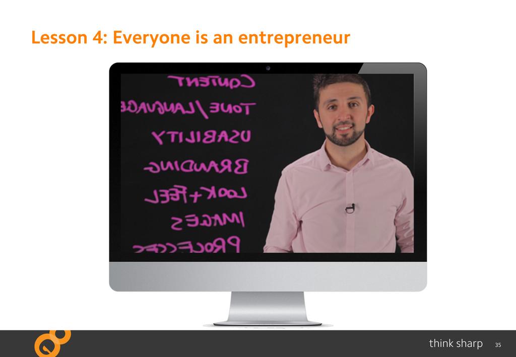 35 Lesson 4: Everyone is an entrepreneur