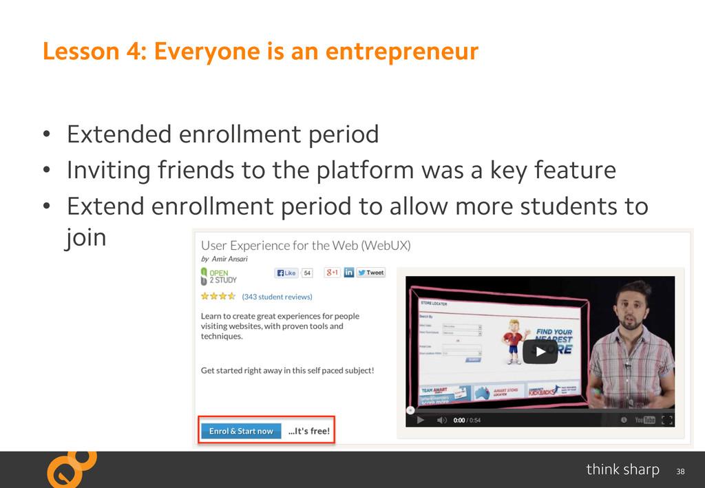38 Lesson 4: Everyone is an entrepreneur • Ext...