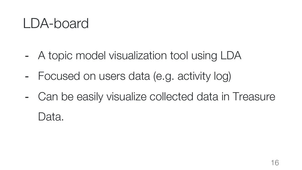 LDA-board 16 - A topic model visualization tool...