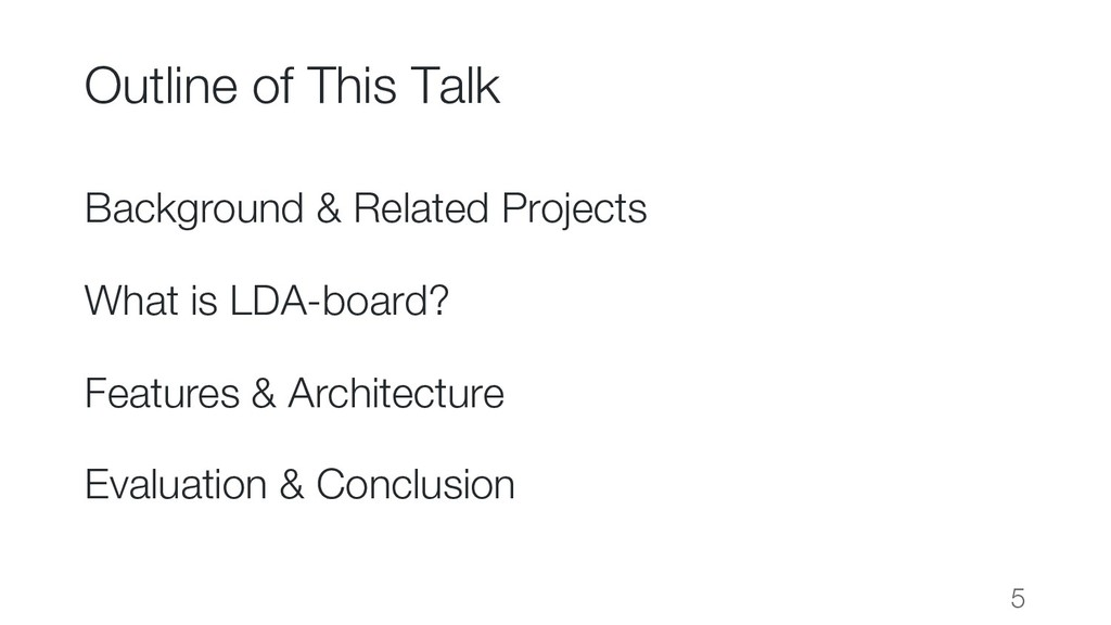 Outline of This Talk Background & Related Proje...
