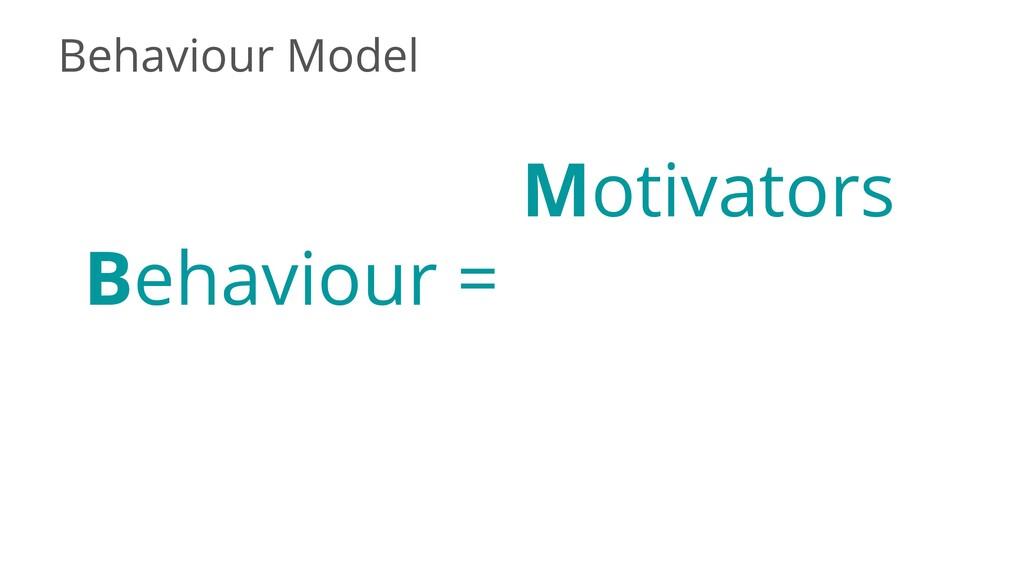 Behaviour Model Behaviour = Motivators
