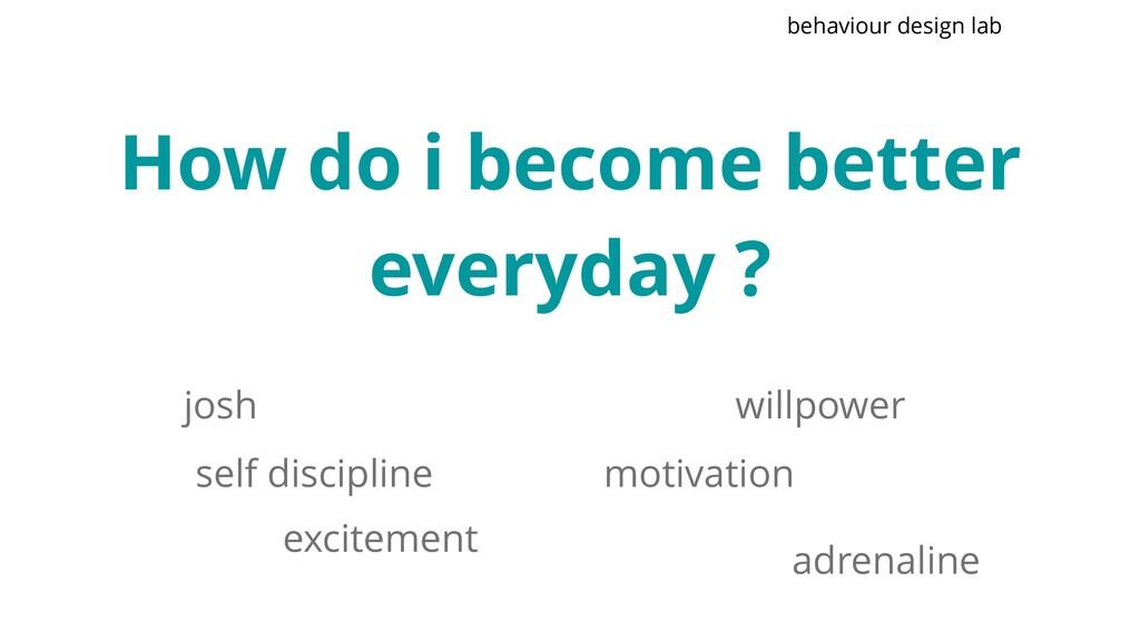 How do i become better everyday ? self discipli...