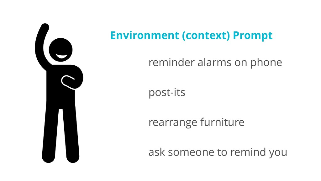 Environment (context) Prompt reminder alarms on...