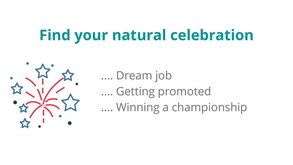 Find your natural celebration .... Dream job .....