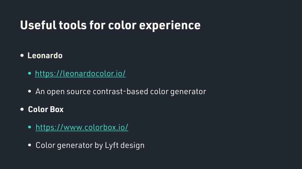 Useful tools for color experience • Leonardo • ...