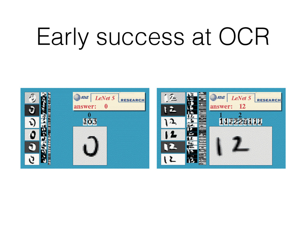 Early success at OCR