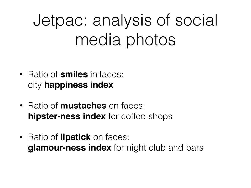 Jetpac: analysis of social media photos • Ratio...