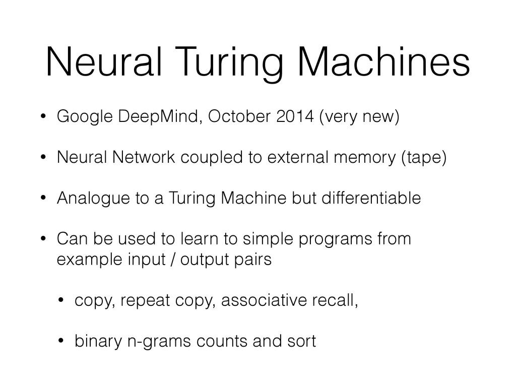 Neural Turing Machines • Google DeepMind, Octob...