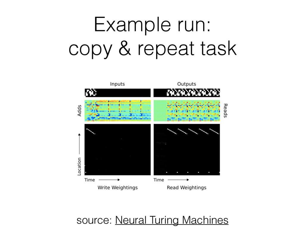 Example run: copy & repeat task source: Neural ...