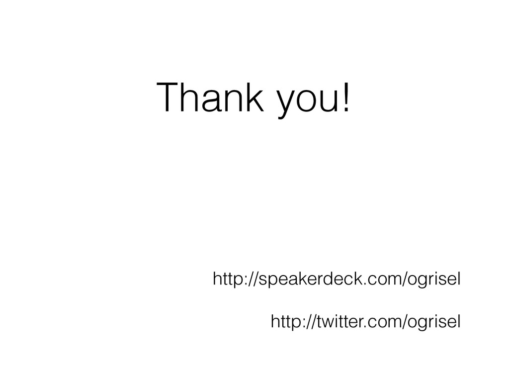 Thank you! http://speakerdeck.com/ogrisel ! htt...