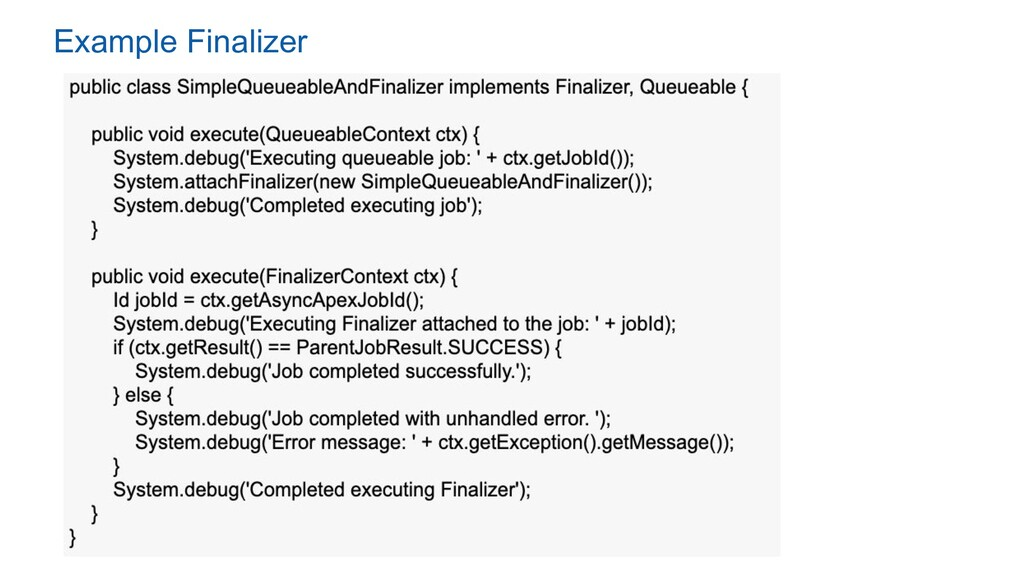 Example Finalizer