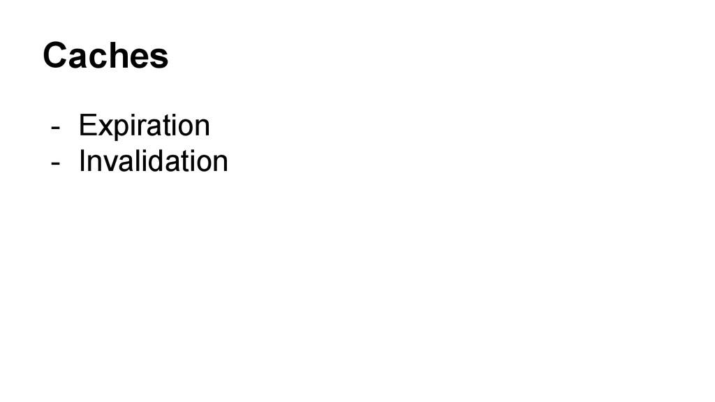 Caches - Expiration - Invalidation