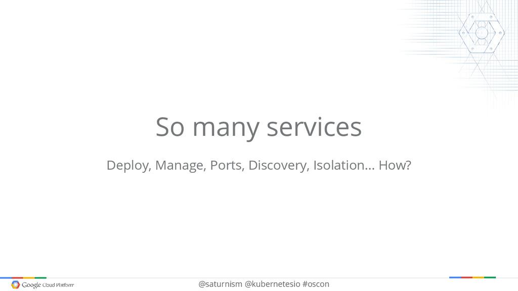 @saturnism @kubernetesio #oscon So many service...
