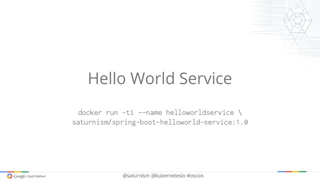 @saturnism @kubernetesio #oscon Hello World Ser...