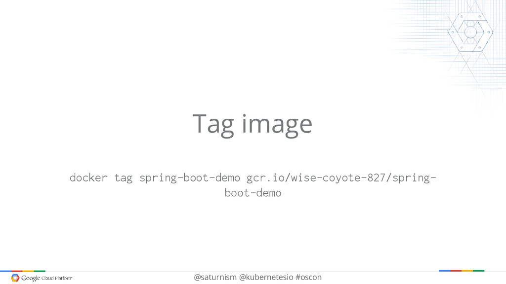 @saturnism @kubernetesio #oscon Tag image docke...
