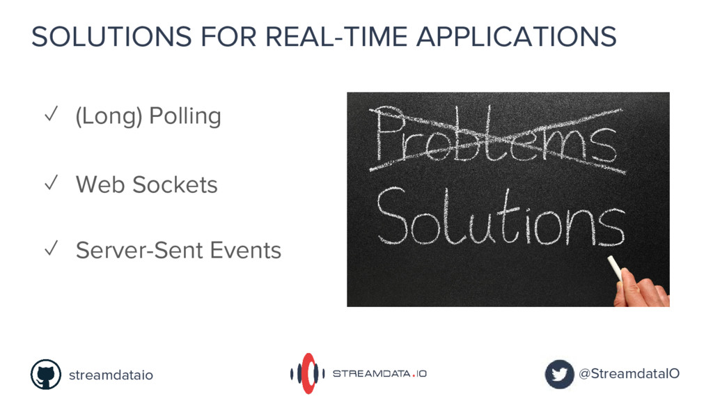 SOLUTIONS FOR REAL-TIME APPLICATIONS ✓ Web Sock...