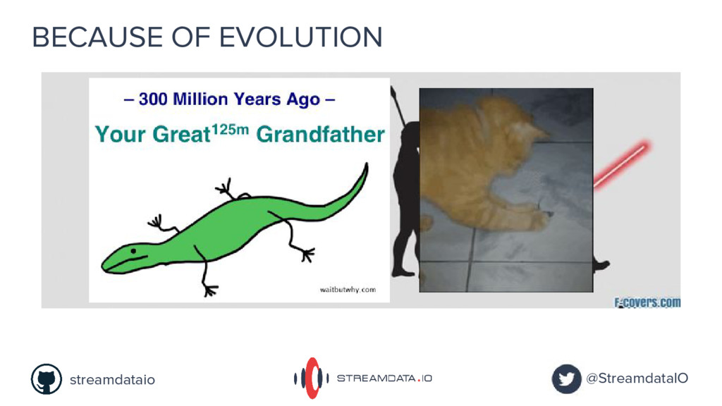 BECAUSE OF EVOLUTION @StreamdataIO streamdataio
