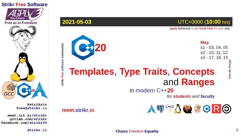 5 Strikr Free Software 20 @strikrio foss@strikr...