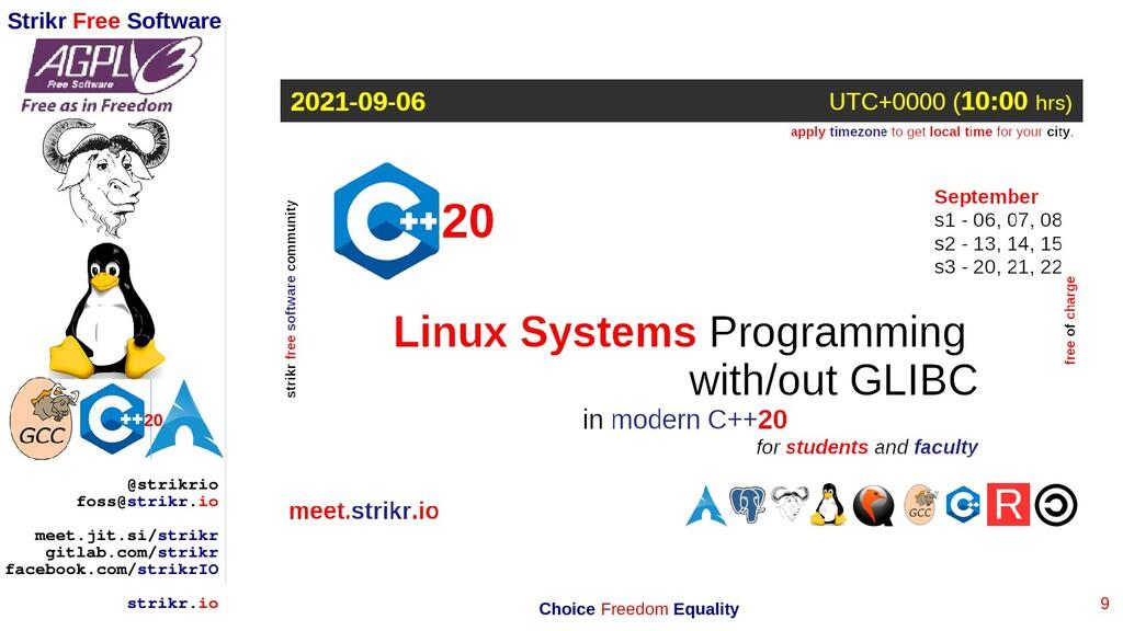 9 Strikr Free Software 20 @strikrio foss@strikr...