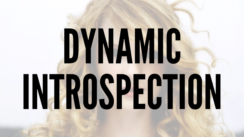 DYNAMIC INTROSPECTION
