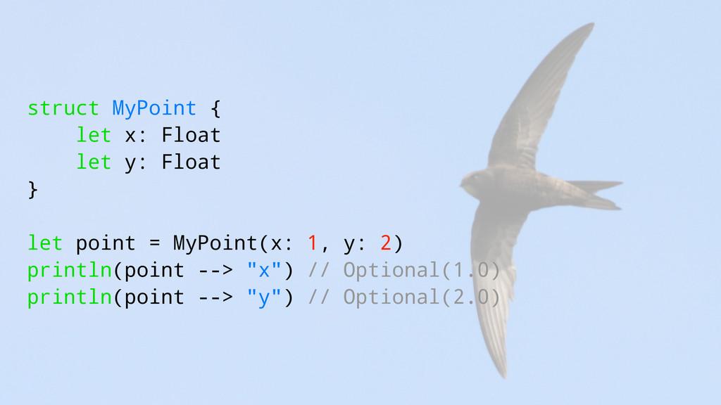 struct MyPoint { let x: Float let y: Float } le...