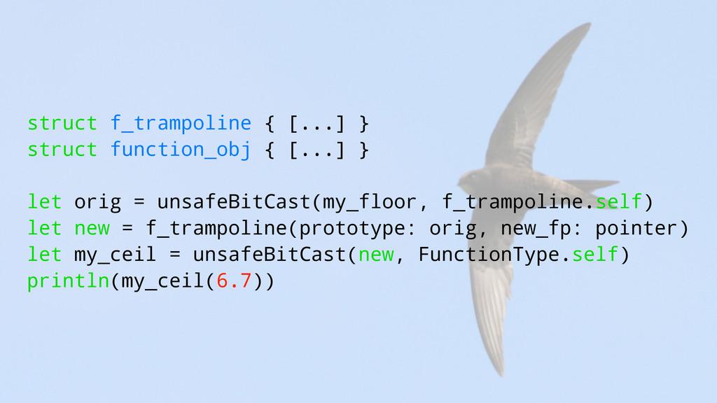 struct f_trampoline { [...] } struct function_o...