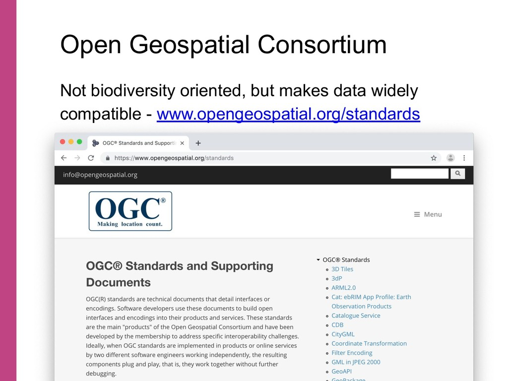 Not biodiversity oriented, but makes data widel...