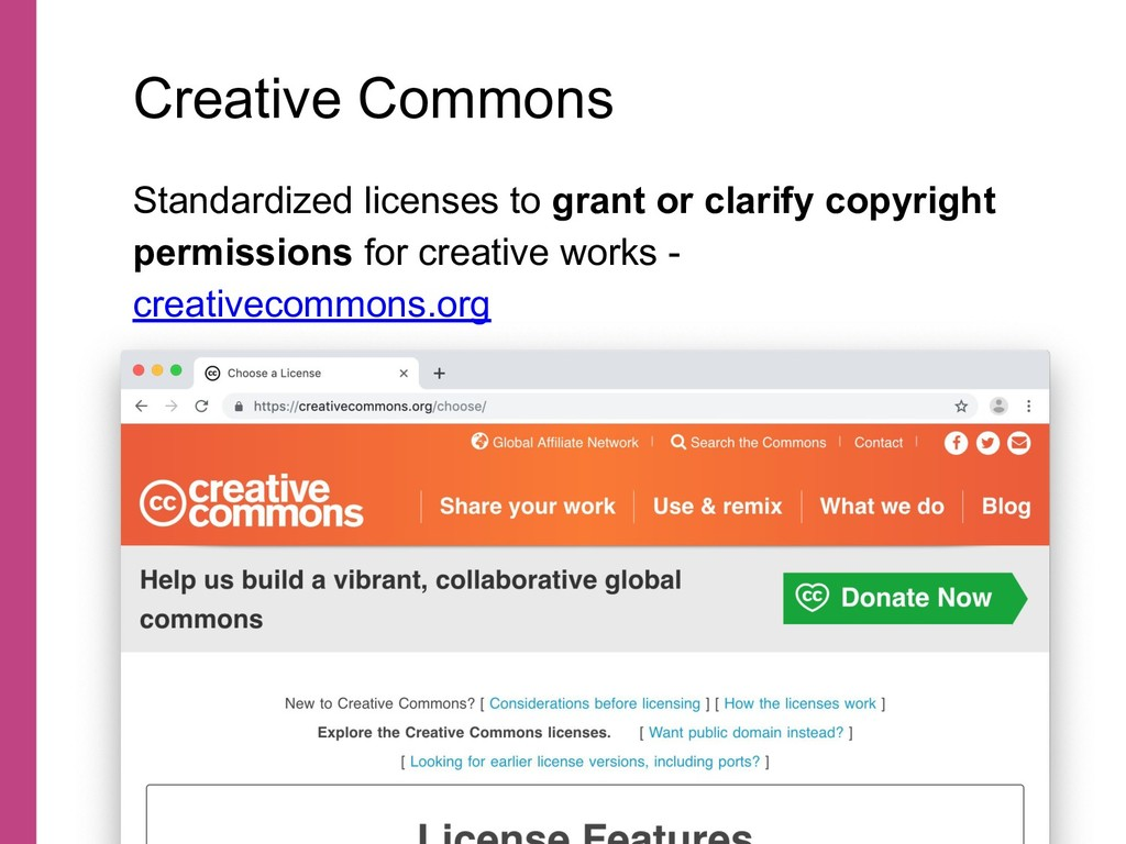 Standardized licenses to grant or clarify copyr...