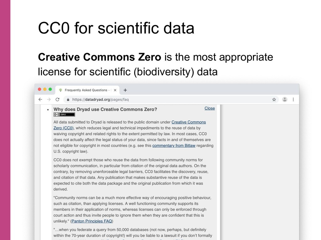 Creative Commons Zero is the most appropriate l...