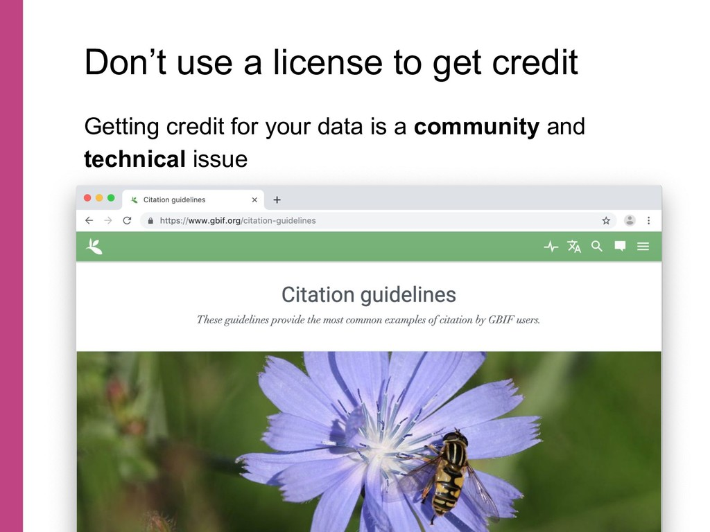 Getting credit for your data is a community and...