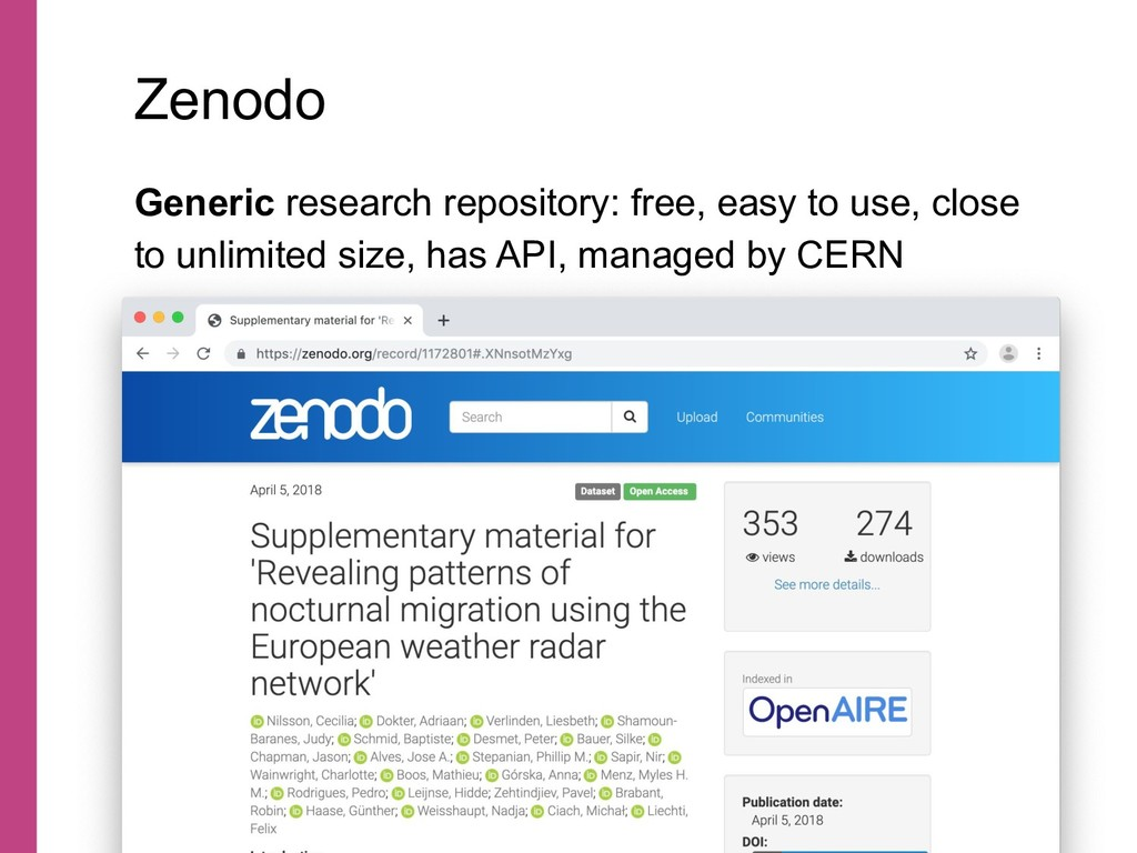 Generic research repository: free, easy to use,...