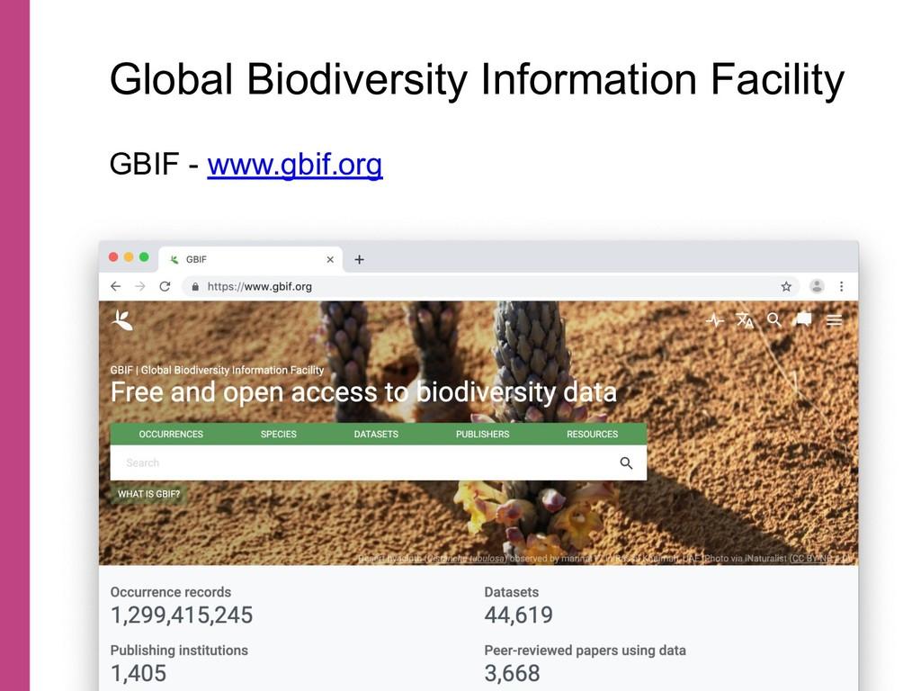 Global Biodiversity Information Facility GBIF -...