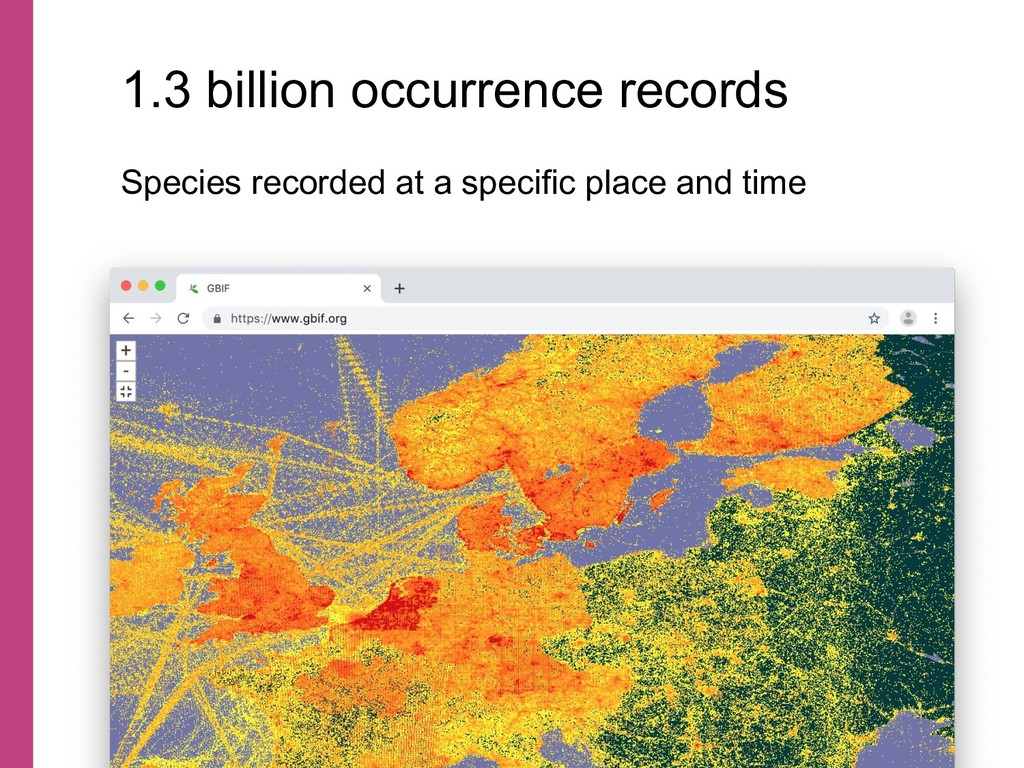 Species recorded at a specific place and time 1...