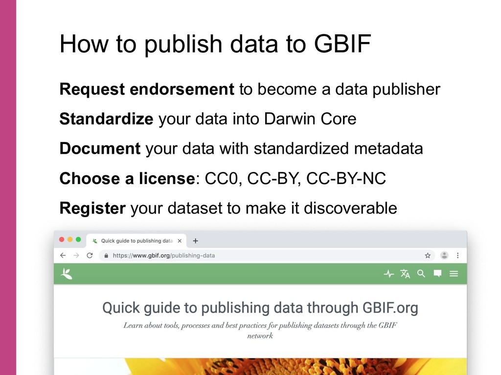 Request endorsement to become a data publisher ...