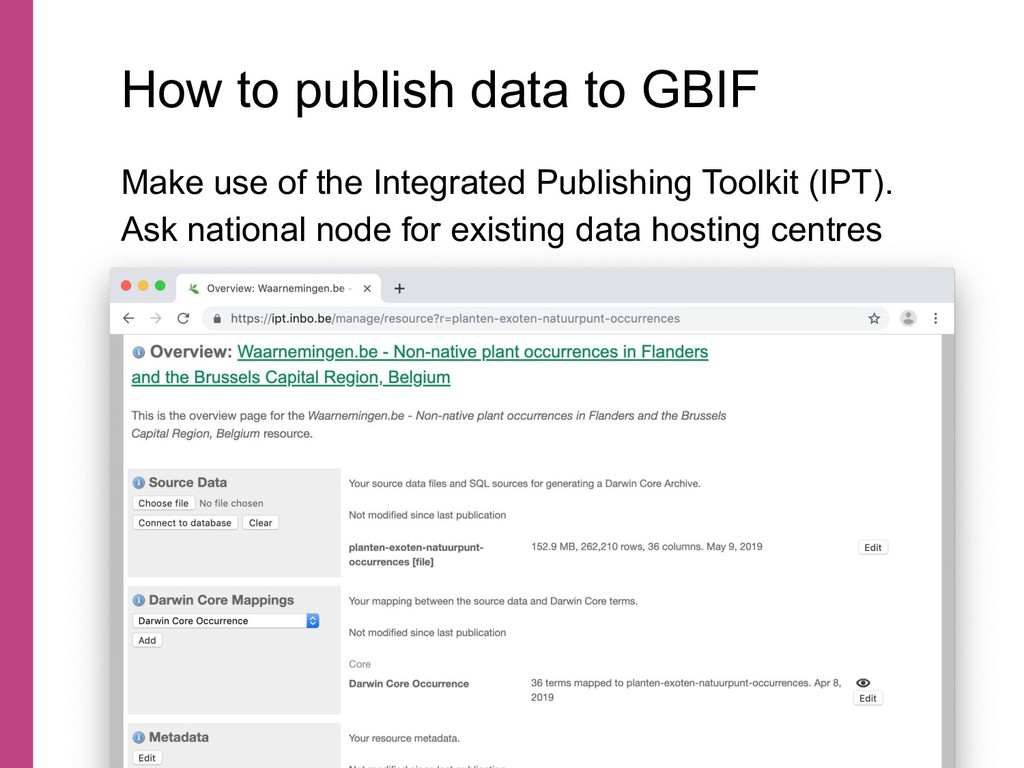Make use of the Integrated Publishing Toolkit (...