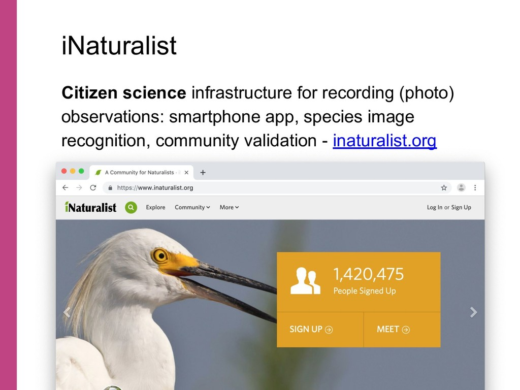 Citizen science infrastructure for recording (p...