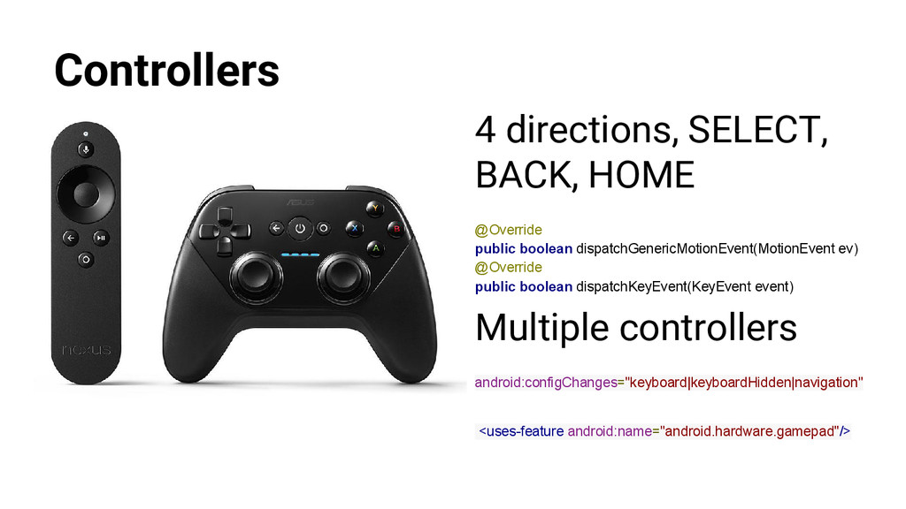 Controllers 4 directions, SELECT, BACK, HOME @O...