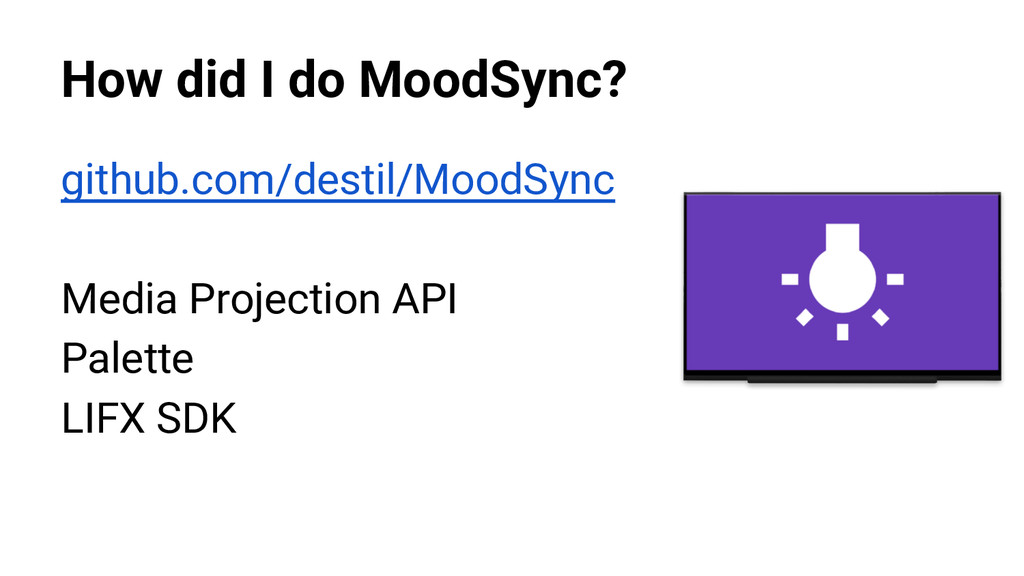 How did I do MoodSync? github.com/destil/MoodSy...