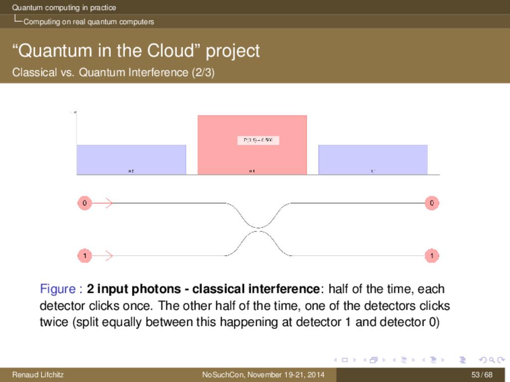 Quantum computing in practice Computing on real...